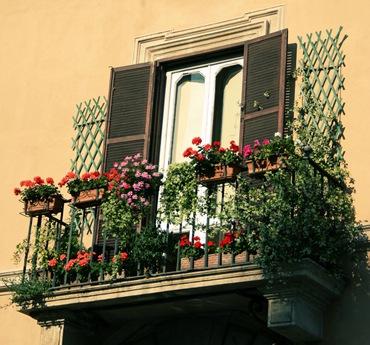 Цветущие балконы