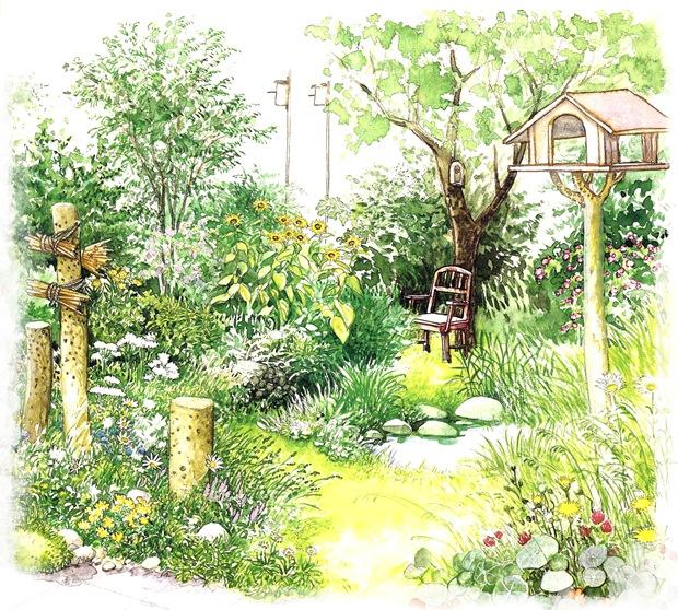 Сад в естественном стиле