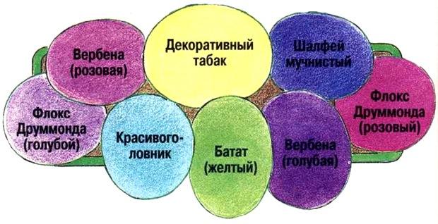 Схема цветов для балкона
