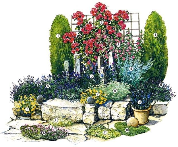 Цветник в провансальском стиле
