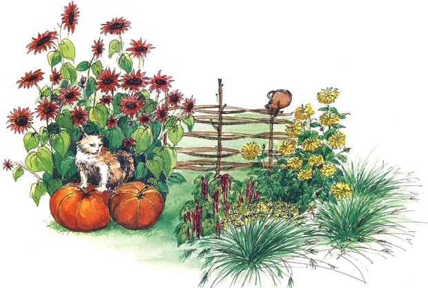 Осенний цветник